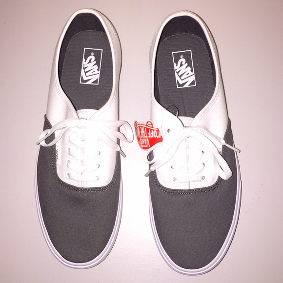 3152cebf46 NWT Vans Men s Authentic Blocked Pewter True White